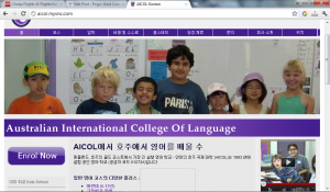 Pogo Foreign Language Website Design for Gold Coast English Language School