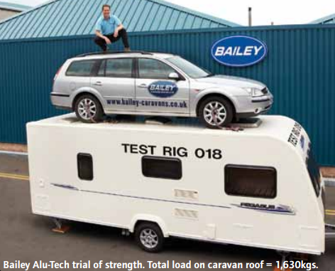 Bailey caravans might be lightweight caravans but they're also very strong