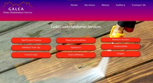 Website for Gold Coast Handyman Peter Galea