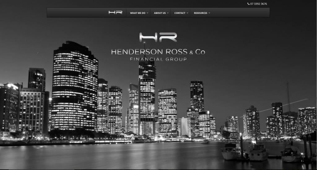 Henderson Ross Financial Group's website