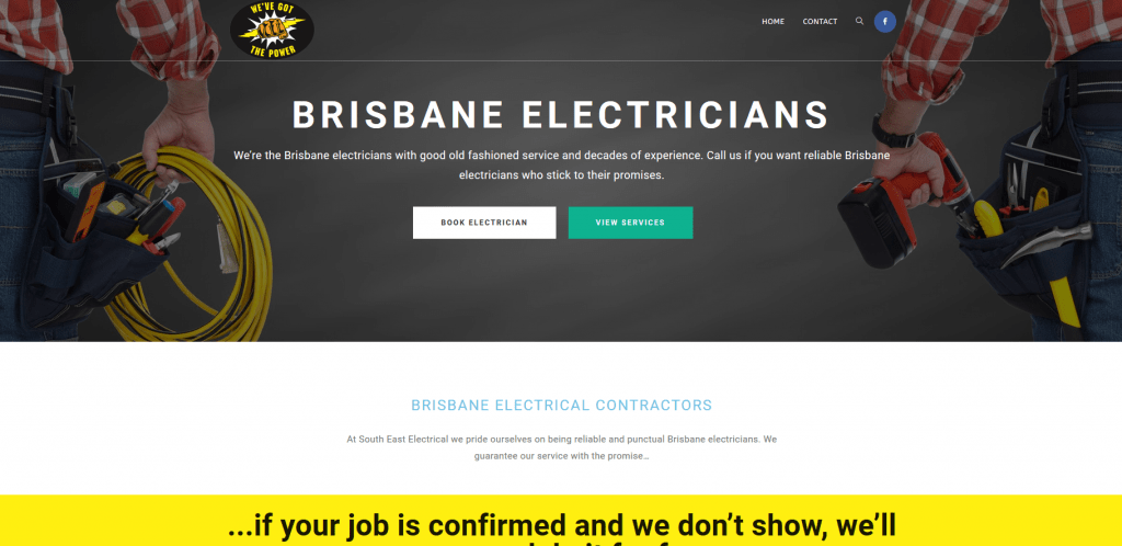 brisbane electricians page for se electrical